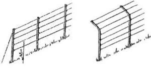 Вертикальная одноплоскостная шпалера